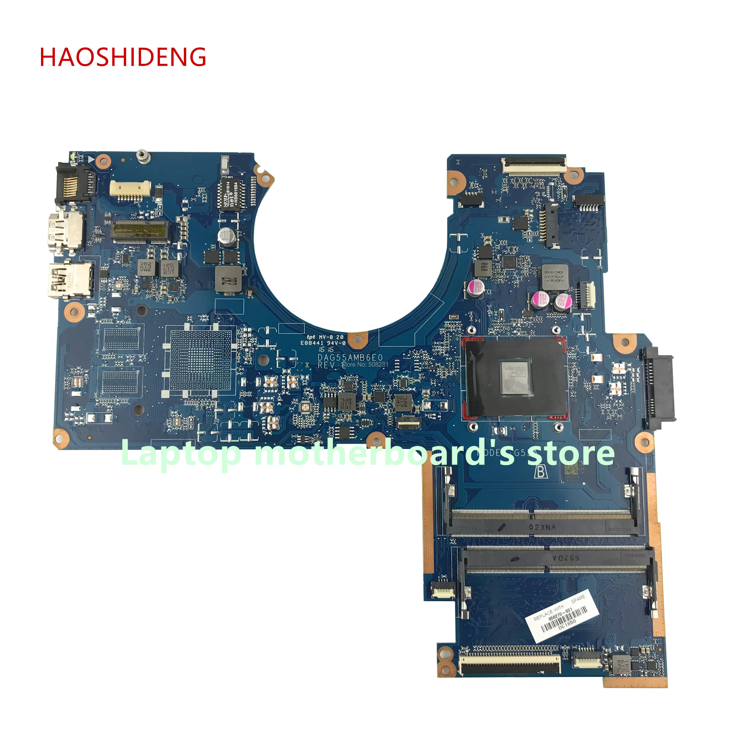 HAOSHIDENG 856270-601 G55A DAG55AMB6E0 mainboard for HP Pavilion Notebook 15-AW 15-AW068NR motherboard with A9-9410 fully Tested haoshideng 809336 601 da0x22mb6d0 x22 for hp pavilion notebook 15 ab 15 ab188cy motherboard with a6 6310 cpu fully tested