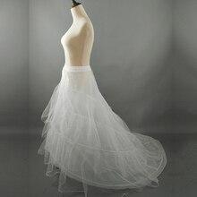 ZJ52015 suknia ślubna krynolina suknia ślubna podkoszulek 2 obręcze z pociągiem kaplicy