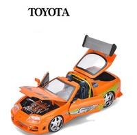 JADA TOYOTA supra 1:24 advanced alloy car model High simulation diecast metal model toy vehicles Collection sports car Model