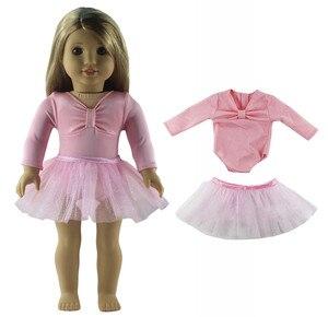 Image 5 - 1 סט בלט חצאית בובת בגדי עבור 18 אינץ אמריקאי בובה בעבודת יד אופנה יפה בגדי X04