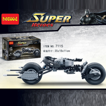 Decool 7115 Super Heroes The Dark Knight Batman batcycle Batmobile Batblade 338PCS batpod Building Blocks Toys jugutets legoed