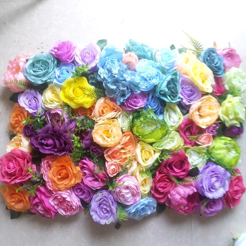 SPR สีสันน่ารักประดิษฐ์งานแต่งงานดอกไม้พื้นหลัง arrangement ดอกไม้ตกแต่ง-ใน ดอกไม้ประดิษฐ์และดอกไม้แห้ง จาก บ้านและสวน บน   1