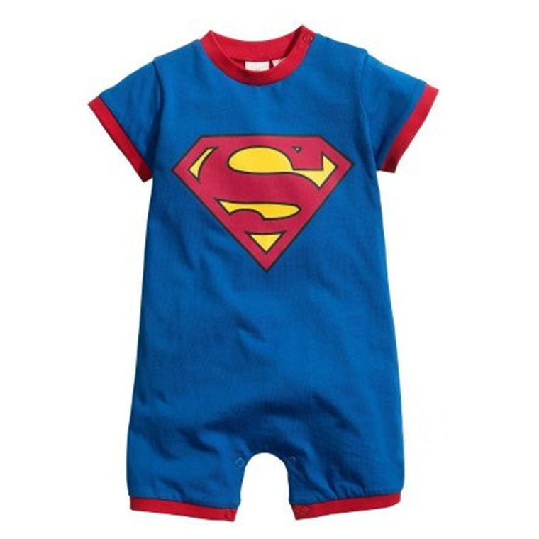 Newborn Superman Baby Cotton Rompers Short Sleeve Multi colors Infant Baby boys Girls Clothing one-piece Overalls Jumpsuits baby boys rompers infant jumpsuits mickey baby clothes summer short sleeve cotton kids overalls newborn baby girls clothing