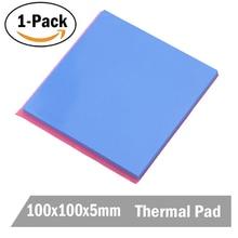 1 шт. Gdstime 100x100x5 мм 100 мм теплоотвод синий термопрокладка проводящая паста составная силиконовая прокладка колодки