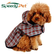 Pet Apparel Dog Clothes Dog Raincoat Pet Jacket Reflective Rain Pet Waterproof Coat Plaid Dog Poncho Teddy Raincoat S/M/L/XL(China)