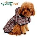 Ropa para mascotas ropa para perros chubasquero para perros chaqueta reflectante lluvia para mascotas abrigo impermeable a cuadros Poncho para perros chubasquero de peluche S/M/L/XL