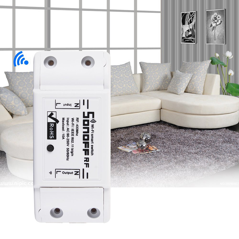 Mini Wireless Smart Switch Module Socket for DIY Home,Wireless Wi-Fi Smart Timing Socket to Control Devices from Anywhere CM116 elm327 mini wi fi car diagnosis tool w switch white