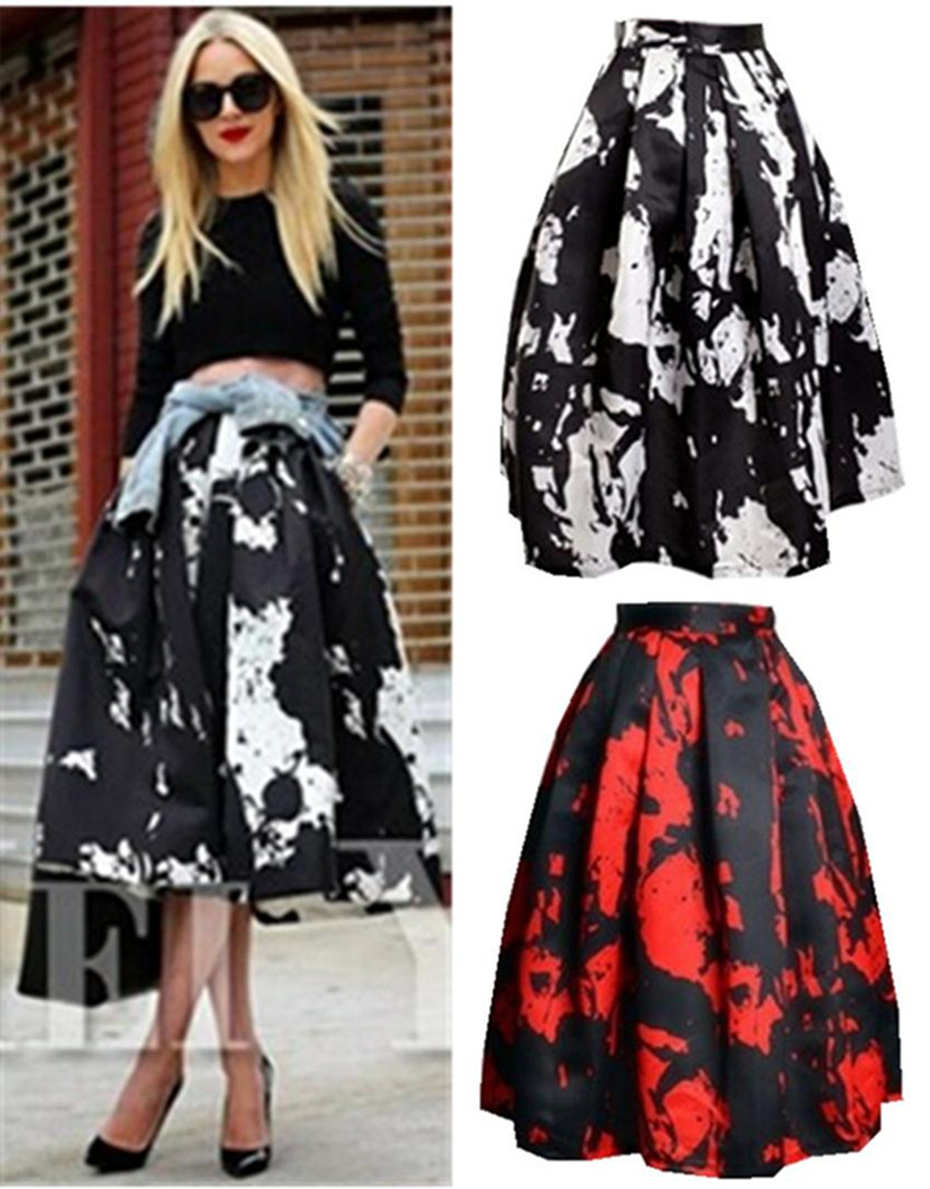 Waisted Full Midi Skirt