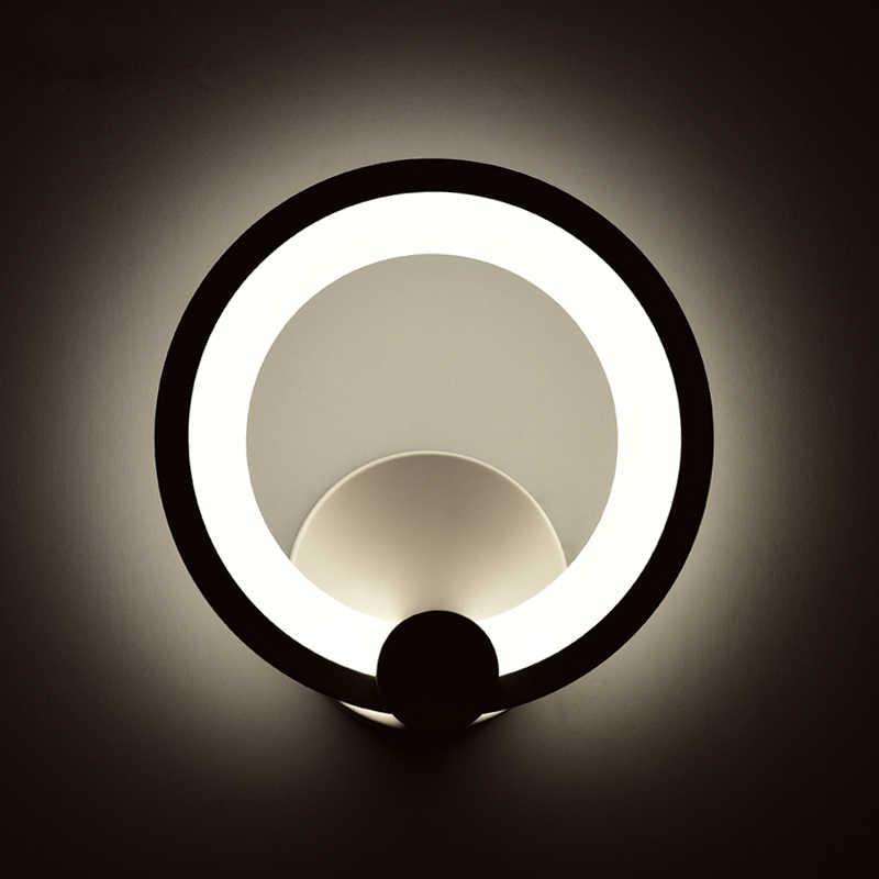 12 Вт Круглый Современные светодиодный настенный светильник для Домашние бра для Спальня прикроватной тумбочке гостиная Banthroom лампа Wandlamp