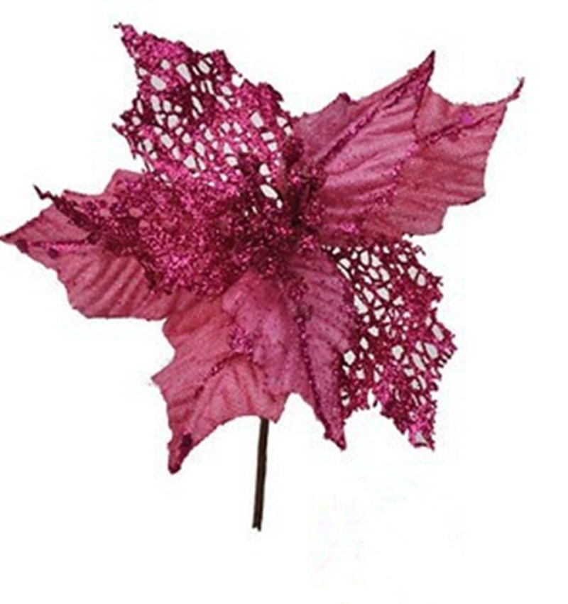 Artificial Christmas Flowers.Us 11 7 Hot New Arrival 5pcs Lot 16cm Pink Artificial Christmas Flowers Poinsettia Cheap Christmas Tree Decoration Ornaments In Artificial Dried