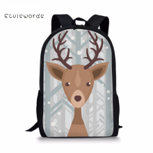 ELVISWORDS Backpack Female Cute Animals Printing Rucksack for Kids Girls Boys Student School Bag Children Elementary 2019 New