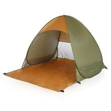 Abri de plage Portable Pop Up tente imperméable coupe vent pliant Opaque argent ruban tente mobilier dextérieur abri de pêche