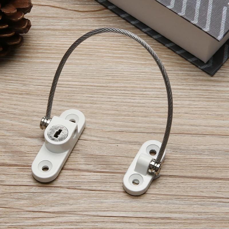 Twisted-pair Door Window Lock Restrictor Children Security Car Window Cable Limit Lock 18.5cm Stainless Steel Safety Key Lock 12