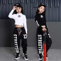 Kids Hip Hop Clothing Clothes Dance Costume for Girls Cropped Sweatshirt Shirt Top Jogger Pants Jazz Ballroom Dancing Streetwear