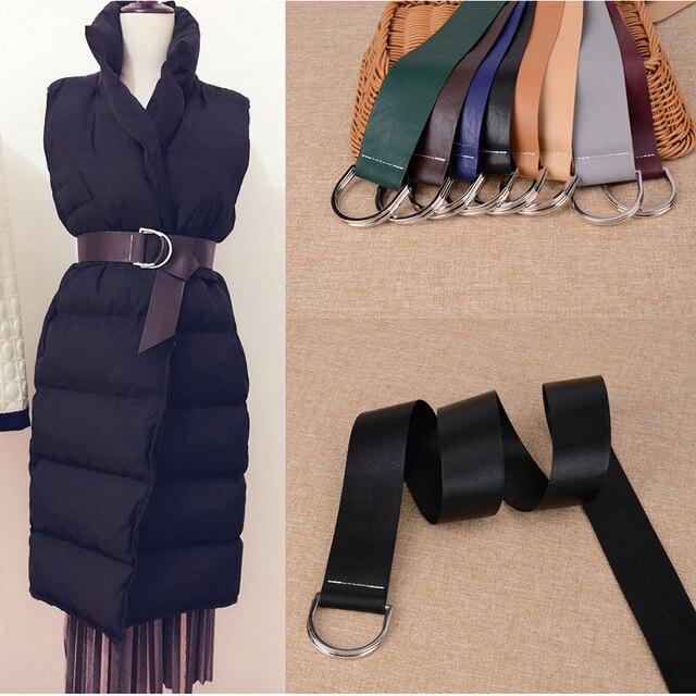 Europa multicolor súper suave cinturones de cuero para las mujeres 2 plata  señoras vestido abrigo nudo 5718d2741332