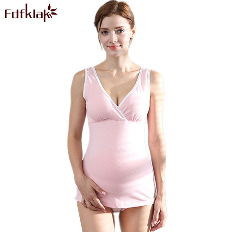 Fdfklak Women Breast Feeding Camisole 2018 Summer New Sleeveless Nursing Camisole Pregnancy Clothes Top For Pregnant Women F116