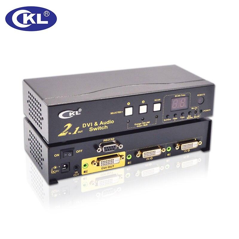Aufstrebend Ckl-21d 2x1 2 Port Dvi Switch Splitter Box 2in 1out Rs232-steuerung Um Jeden Preis 3d 1080 P Für Pc Monitor Wih Ir-fernbedienung