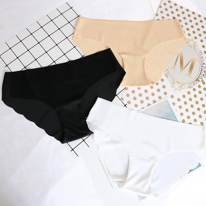 3Pcs/lot Seamless   Panty   Set Underwear Female Comfort Intimates Low-Rise Briefs 6 Colors Fashion Female