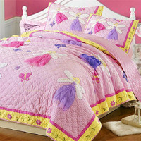 Новый американский покрывало из двух частей ручной работы Стеганые кондиционер Классический Девушка принцесса розовый Постельное белье