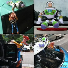 Lovely Toy Story Sherif Woody Car Doll Plush Toys Outside Hang Toy Cute Auto Accessories Hot Sell Car Decoration Toy 25/35/45CM(China)
