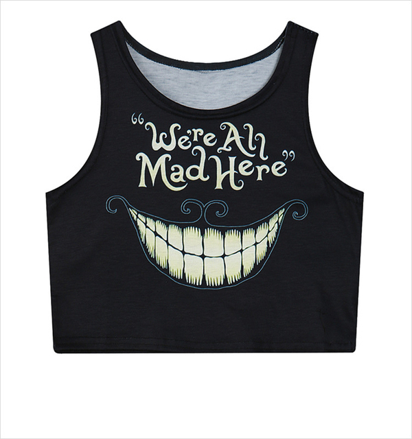 efe7e27dc4e Fitness Skinny Crop Top 2016 New Women Tight Bustier Crop Top Letters  Printed Black Belly Sports Dance Tops Vest Tank Tops T2679