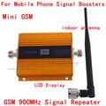 Mais novo display LCD! GSM 900 MHz Repetidor de Sinal de Telefone Móvel Impulsionador GSM repetidor de sinal Amplificador + interior antenn boostera