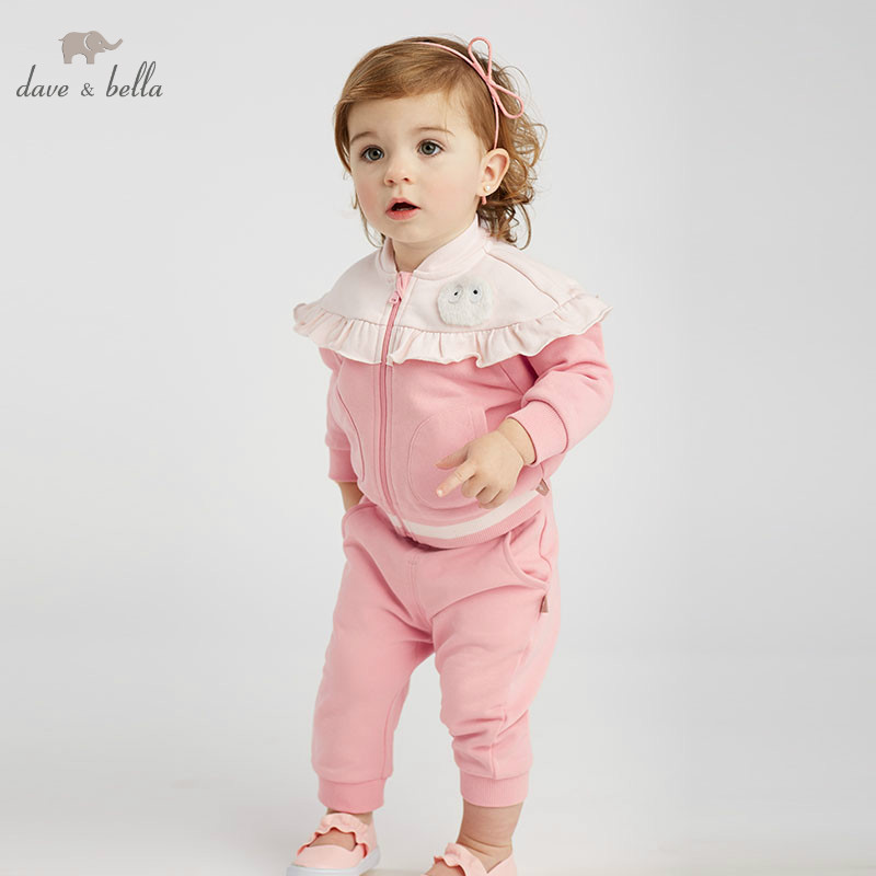 DBZ8929 dave bella spring baby girl fashion clothing sets girls lovely long sleeve suits childrenDBZ8929 dave bella spring baby girl fashion clothing sets girls lovely long sleeve suits children