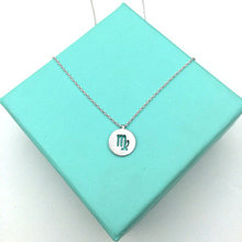 1PCS Zodiac Virgo Necklace Signs 12 Constellation Necklace Horoscope Astrology Disc Necklace Galaxy Star Necklaces