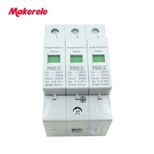 Hot sale SPD 3P 20KA~40KA ~385VAC House Surge Protector Protective Low-voltage Arrester Device цена в Москве и Питере