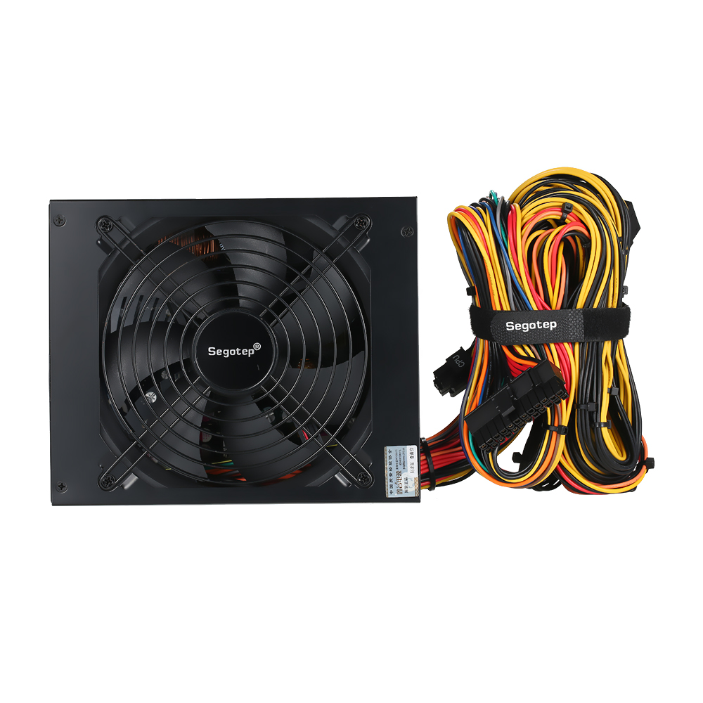 1250W GP1350G ATX Computer PC Mining Power Supply 80Plus Gold Active PFC Support 6 Graphics Card
