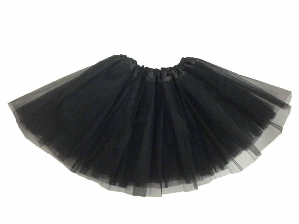 Ücretsiz kargo 3 kat Kızlar Bayan Tül Etek Kadın Pileli Kısa Mini Tutu Etek Lolita Jupe dans eteği Yaz Saias Jupe