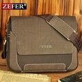 Nueva colección zefer hombre bolsa de lona de la manera, hombre bolsos de hombro ocasionales, mensajero de los hombres, alta calidad de la lona cartera del ordenador portátil