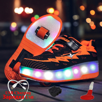 Luminous Sneaker with Wheels USB Charging Two Wheels Sneakers for Children with Lighting Glowing Sneakers boys krasovki rollers
