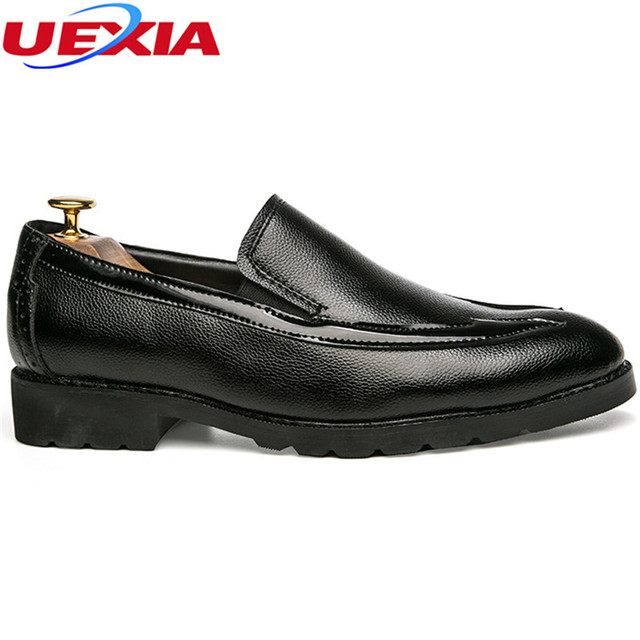 Luxury Business Dress Formal Men Shoes Wedding Flats Casual Elastic band Pointed Toe Fashion Leather Flats Oxford Shoes For Men