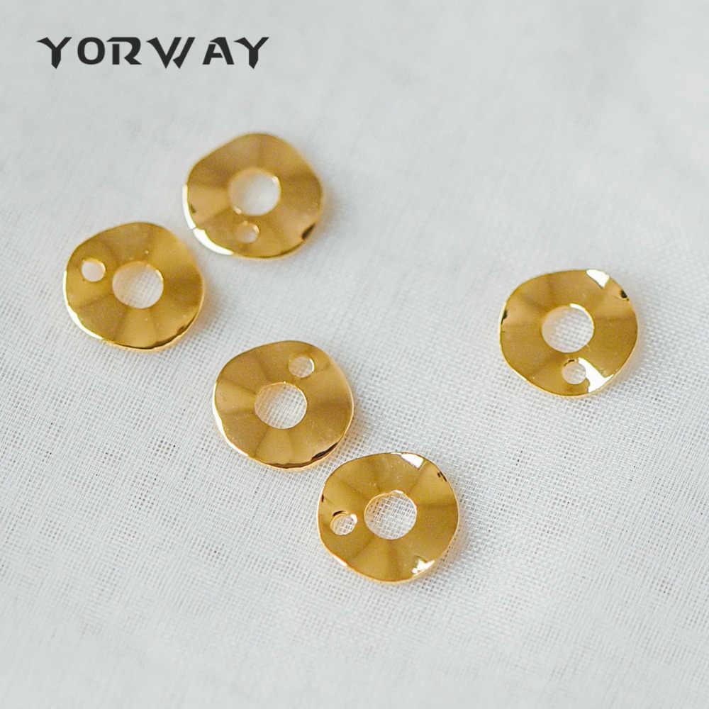 GB-928 10pcs Gold Moon Charms 14x13mm 18K Gold plated Brass Moon Pendants