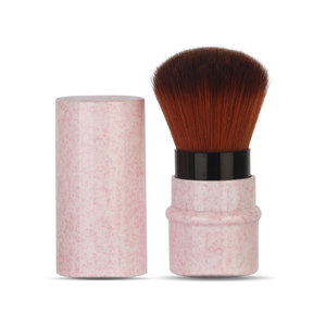 Image 1 - Mini geri çekilebilir vakıf makyaj pudra allık güzellik fırçalar seyahat kozmetik