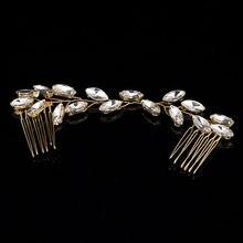 TUANMING 1PCS 2017 Hair Jewelry Bridal Hair Accessories Tiara Head Piece Fashion Hair Pins Wholesale Tiaras And Glass Headbands