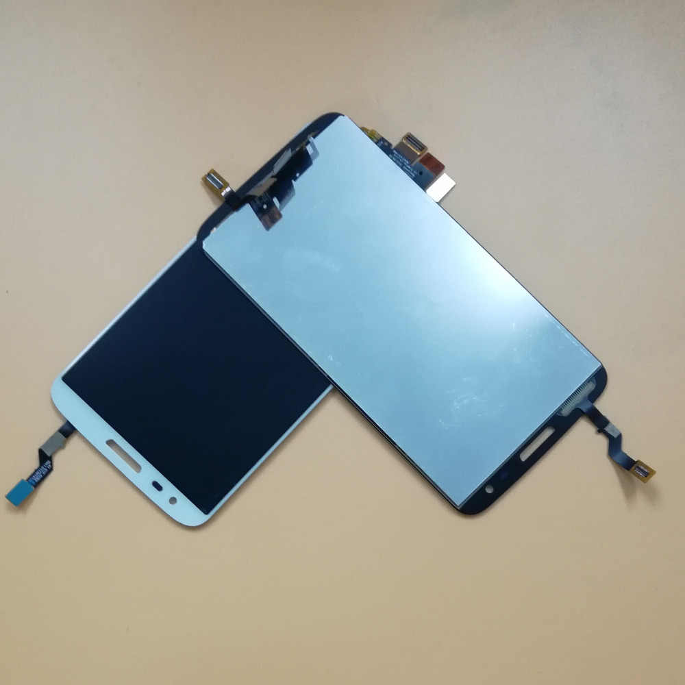 ل LG Optimus G2 D802 D805 محول الأرقام بشاشة تعمل بلمس الاستشعار الزجاج لوحة + شاشة الكريستال السائل شاشة رصد وحدة ألواح شمسية الجمعية الإطار