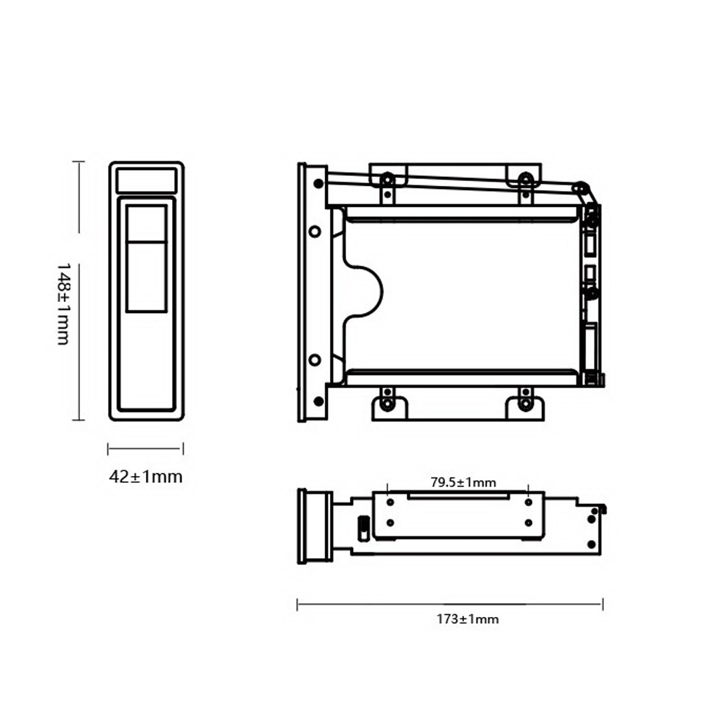 medium resolution of new 3 5 3 5inch hdd hard disk drive base mounting bracket hdd bays basetray sata esata hdd docking station tray holder bracket in hdd enclosure from