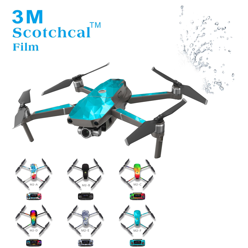 Waterproof UV Resistant PVC Skin Stickers Decal For DJI MAVIC 2 Pro Zoom Drone Quadacopter Cover Wrap Guard Sticker Decals