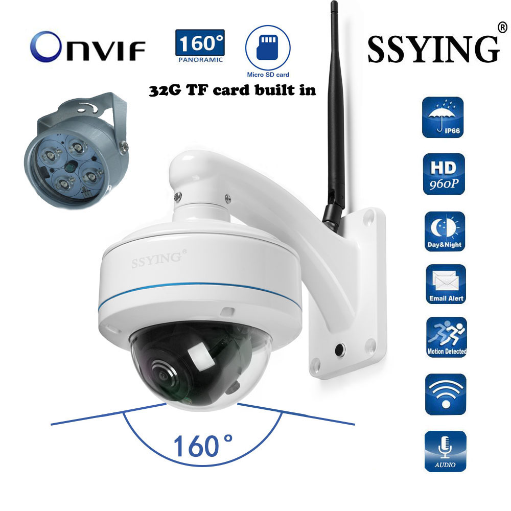 HD IP WIFI panoramic camera 360 degree outdoor camera Onvif built-in 32G card Audio 2.4G WIFI 960P surveillance экшн камера 360fly panoramic hd 360flyblk