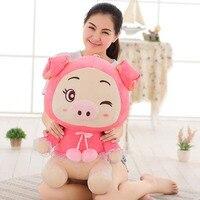 35-55 cm 2017 Novo Estilo Criativo porco porco dos desenhos animados boneca de brinquedo de pelúcia Crianças Boneca brinquedos do bebê do aniversário da menina crianças Transporte da gota