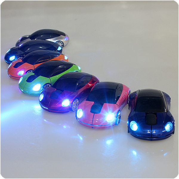 by dhl or ems 500 pieces New 1600DPI 2.4G 3D Car Shape Wireless Optical Mouse &USB Receiver For Laptop PC