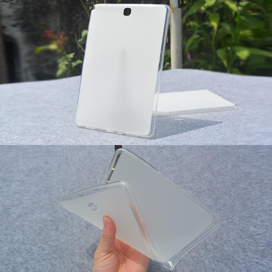 T550 Cover Soft TPU Gel Rubber Semi transparent Back Case for SAMSUNG GALAXY Tab A 9.7 SM-T550 T551 T555 T555C P550 P555 Case