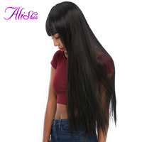 Alishes Hair Brazilian Straight Human Hair 8-28 inch Hair Weave Bundles Non Remy Hair Extensions 1 Piece Free Shipping