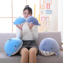New Style Lovely Fat Whale Shark Plush Toys Stuffed Ocean Animal Soft Doll Toy Children Gift Baby