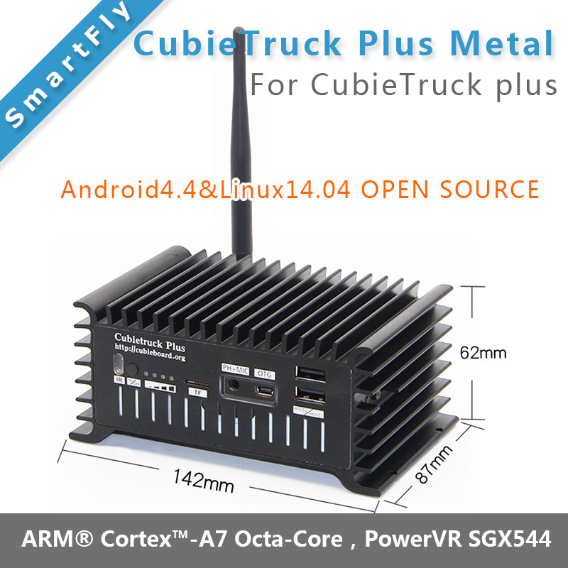 CubieTruck Plus Metal Case / Shell cubieboard5 cubieboard 5 H8 Development Board Android / Linux board with <font><b>HDMI</b></font> DP Display