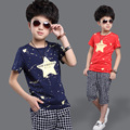 2016 New Korean Boys Summer Suit For Children Star Two Sets Clothing Children's Clothes Baby