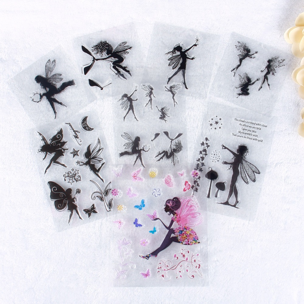 New Clear Stamp Scrapbook DIY Photo Cards Rubber Stamp Seal Ttransparent Little Fairy Stamp#230671