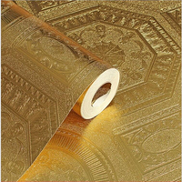 beibehang Ceiling ceiling PVC waterproof gold wallpaper KTV works Golden living room sofa TV backdrop Papel de parede